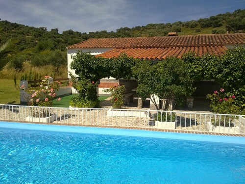 House With 5 Bedrooms in Aroche, Huelva, With Wonderful Mountain View, Private Pool and Enclosed Garden