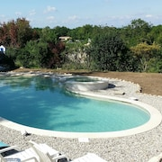 House With 2 Bedrooms in Grospierres, With Wonderful Mountain View, Pool Access, Enclosed Garden