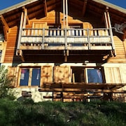 Chalet With 3 Bedrooms in Risoul, With Wonderful Mountain View, Furnished Terrace and Wifi - 8 km From the Slopes