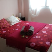 Apartment With one Room in Candelaria, Wonderful Mountain View, Furnished Terrace and Wifi - 150 m From the Beach