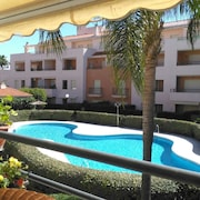 Apartment With 3 Bedrooms in Rota, With Pool Access and Furnished Terrace - 650 m From the Beach