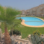 Apartment With 2 Rooms in Águilas, Murcia, With Wonderful Mountain View, Pool Access, Enclosed Garden