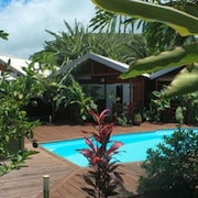 Bungalow With one Bedroom in Vincendo, Saint-joseph, With Pool Access, Furnished Garden and Wifi - 15 km From the Beach