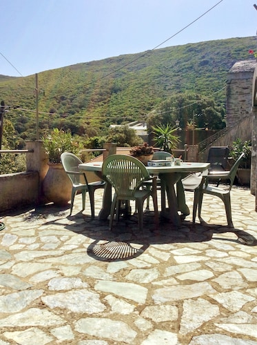 Elegant Island House Near Barcaggio, Upper Corsica, With Mountain Views, Garden and Sunny Terrace