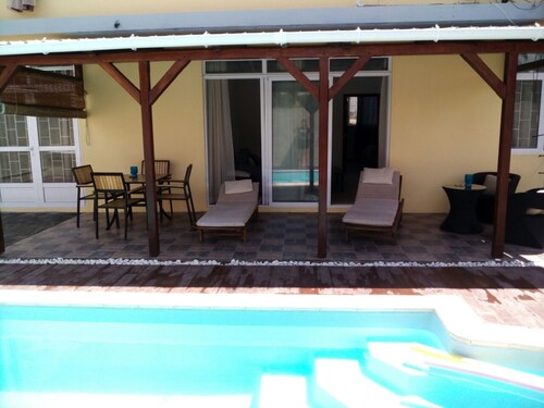 Villa With 3 Bedrooms in Pointe aux Cannoniers, With Private Pool, Furnished Terrace and Wifi - 750 m From the Beach