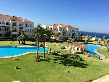 Apartment With 3 Bedrooms in Tanger, With Wonderful sea View, Pool Access and Enclosed Garden - 50 m From the Beach