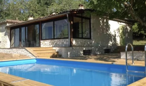 Villa With 2 Bedrooms in Vélines, With Private Pool and Furnished Garden