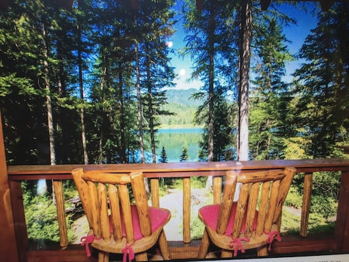 Check Expedia for Availability of Log Cabin On Pristine Lake 10 Miles From Glacier Park