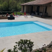 Villa With 3 Bedrooms in Fumel, With Private Pool, Furnished Garden and Wifi