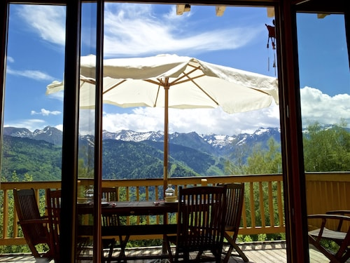 Chalet With 4 Bedrooms in Ax-les-thermes, With Wonderful Mountain View and Furnished Garden