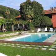 Apartment With 2 Bedrooms in Massino Visconti, With Wonderful Lake View, Pool Access, Enclosed Garden - 3 km From the Beach