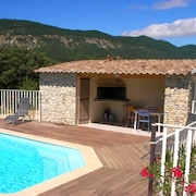 House With 3 Bedrooms in Roche-saint-secret-béconne, With Wonderful Mountain View, Private Pool and Enclosed Garden