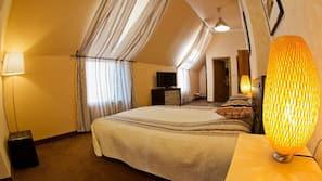 高級寢具、熨斗/熨衫板、免費 Wi-Fi、床單