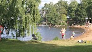 Beach nearby, rowing, fishing