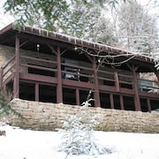 Private Riverfront Solid Stone Cottage on 18 Acres of Forestland on the Clarion