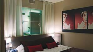 1 chambre, literie de qualité supérieure, bureau, rideaux occultants