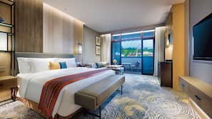 Free minibar items, in-room safe, blackout drapes, soundproofing