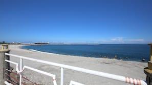 在海灘附近