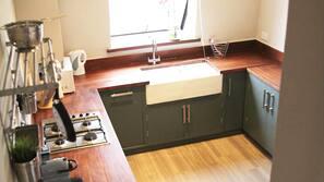 Dishwasher, espresso maker, cookware/dishes/utensils