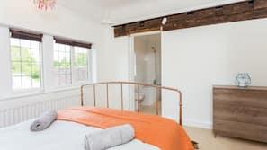 1 bedroom, desk, laptop workspace, iron/ironing board