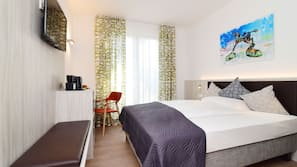 Allergikerbettwaren, Zimmersafe, Schreibtisch, schallisolierte Zimmer