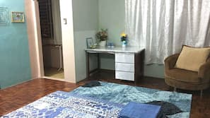 Desk, iron/ironing board
