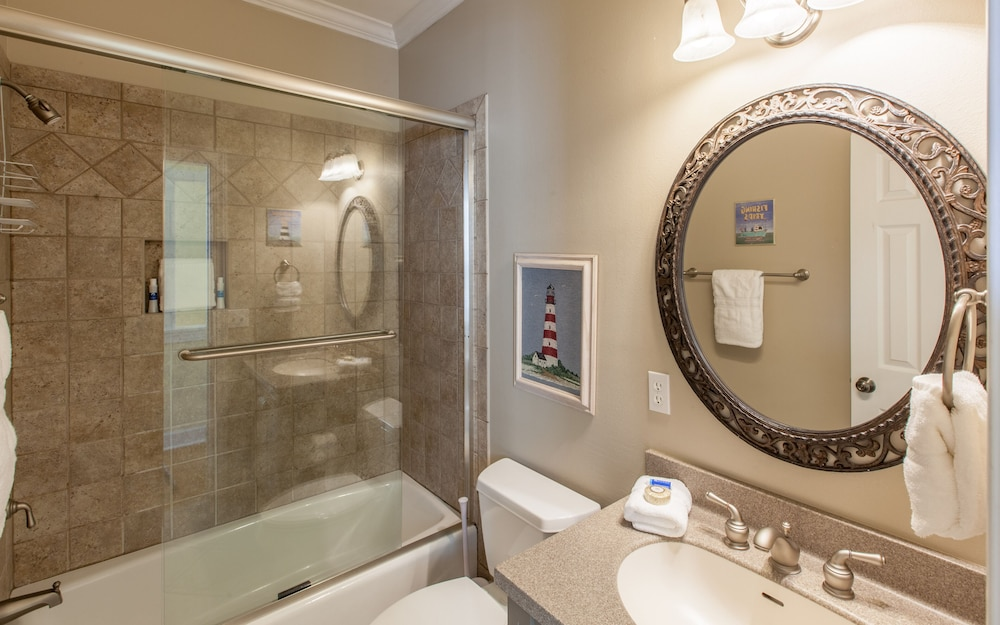 Bathroom, The Fab Crab- Seacrest Resort Home Large Community Pool, Seasonal Beach Tram!