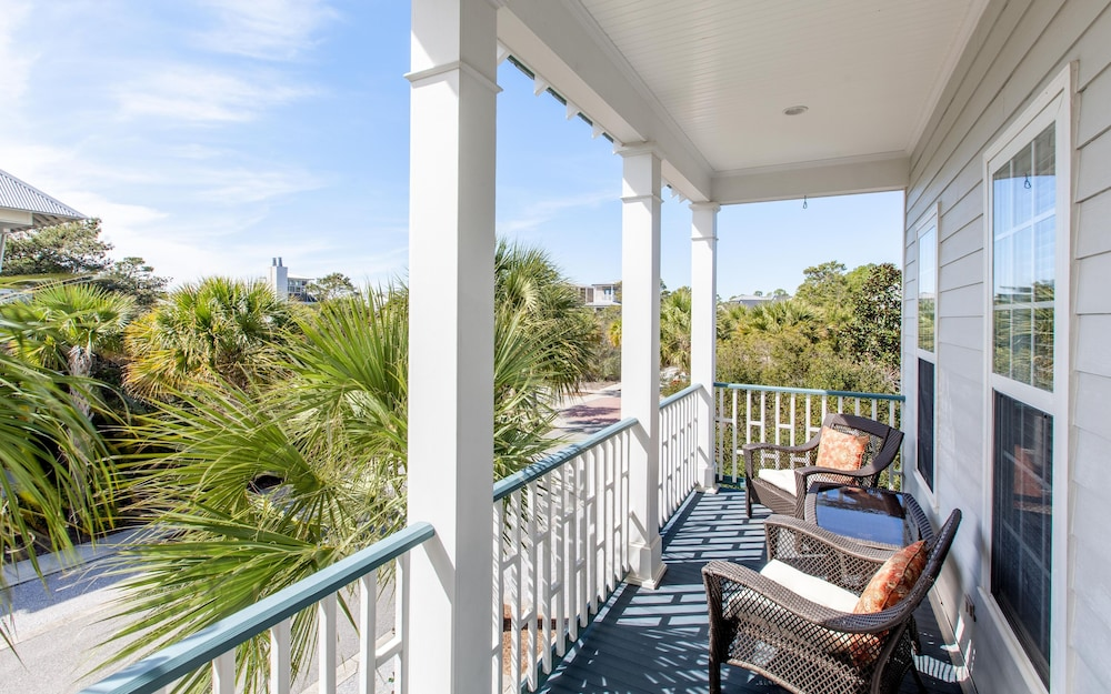Balcony, The Fab Crab- Seacrest Resort Home Large Community Pool, Seasonal Beach Tram!