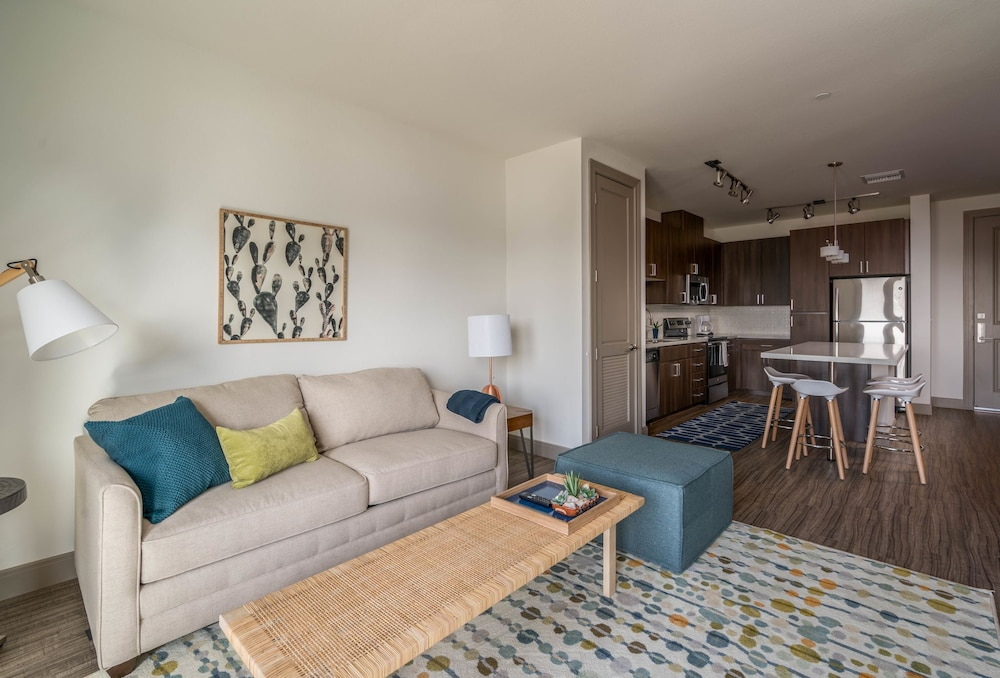 Living Area, Luxe Tempe Apartments by WanderJaunt