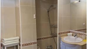 Bathtub, towels