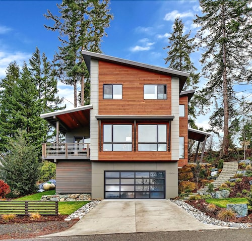 Check Expedia for Availability of Stunning Modern Water View Home Near Downtown Bellingham With Beautiful Covered Deck!
