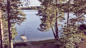 On the beach, water skiing, kayaking, rowing