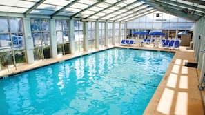 Indoor pool, outdoor pool, cabanas (surcharge)