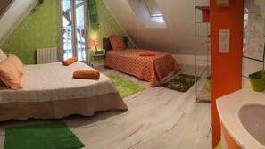 1 sovrum, strykjärn/strykbräda, barnsängar och gratis wi-fi