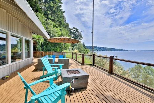 Hotels Near South Whidbey Island State Park Waterfront Home W Deck Hot Tub And Magical Views Private Beach Stairs