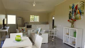 2 bedrooms, iron/ironing board, free cots/infant beds, WiFi