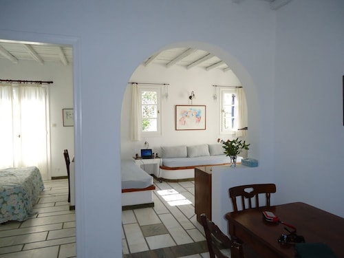 Apartment With Garden 15 Minutes Walk From the Port of Naoussa and the Beach