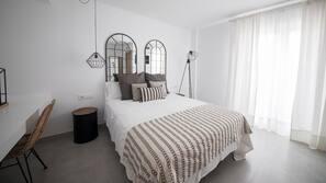 Ropa de cama de alta calidad, colchones Select Comfort, escritorio