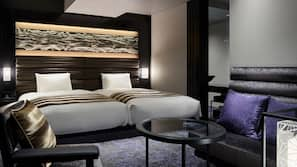 房內夾萬、熨斗/熨衫板、免費 Wi-Fi、床單