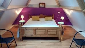 1 slaapkamer, een strijkplank/strijkijzer, gratis wifi, beddengoed