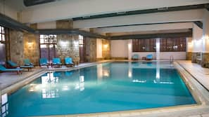 Indoor pool, seasonal outdoor pool, open 6 AM to 9:00 PM, pool umbrellas