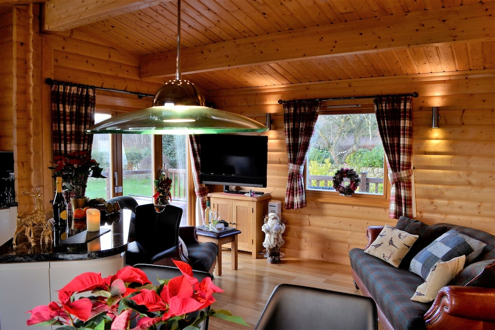 Living Area, Pheasant Lodge Scottish Borders