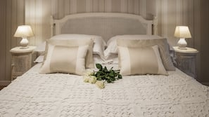 Premium bedding, down duvets, Select Comfort beds
