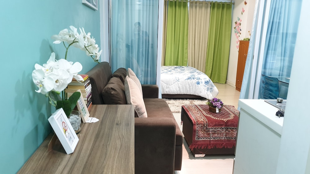 Living Room, Family Condo by IA @ Azure Urban Resort Residences