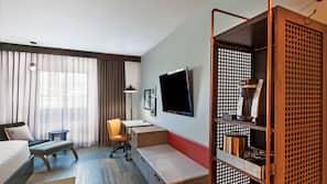 1 間臥室、埃及棉床單、高級寢具、保險箱