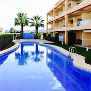 Apartment With one Bedroom in Dénia, With Wonderful Mountain View, Pool Access, Enclosed Garden - 300 m From the Beach