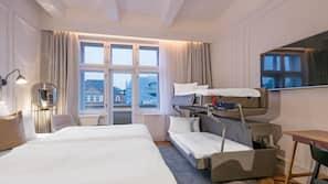 Premium-sengetøj, Select Comfort-senge, minibar, pengeskab på værelset