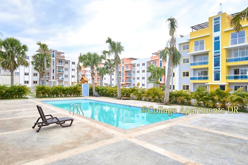 Marvelous 3bd Apt 5 min From Airport w/ Pool View A/c, Wifi & Cable