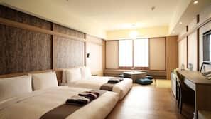 Premium bedding, down duvets, free minibar, in-room safe