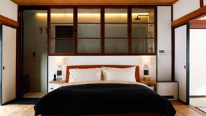 1 bedroom, premium bedding, minibar, laptop workspace